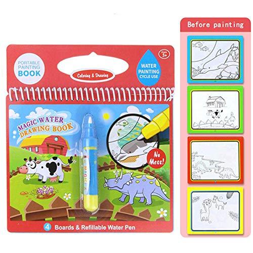 Qiajie Magic Water Coloring Book Water Disegno Pittura Libro con Penna per l'educazione dei Bambini Disegno