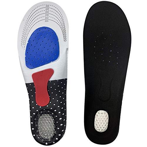 L.S.C インソール 靴 中敷き 足底筋膜炎 土踏まず 扁平足 かかとパッド 付き ジェルインソール (L(25cm~28.5cm))