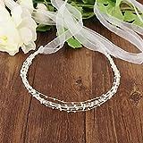 Cinturones de boda con cuentas Cinturones de novia hechos a mano Perlas Faja de boda para Abiye Vestido de noche Accesorios de vestido de novia Cinturón fino para mujer