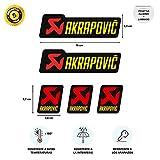 Pegatina Adhesivo Sticker Compatible con AKRAPOVIC Tubo Escape Aluminio Alta Temperatura + 180 º Vinilo Coche Moto Adhesivo Laminado
