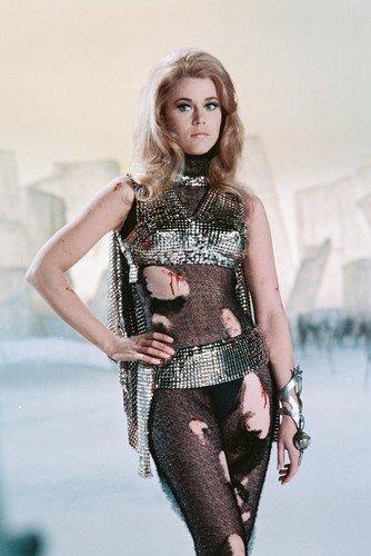 Nostalgia Store Mini pster de Barbarella Jane Fonda de 28 x 43 cm, Disfraz Sexy