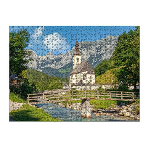 artboxONE Ravensburger-Puzzle L (500 Teile) Natur Ramsau bei Berchtesgaden - Puzzle ramsau Bayern berchtesgaden