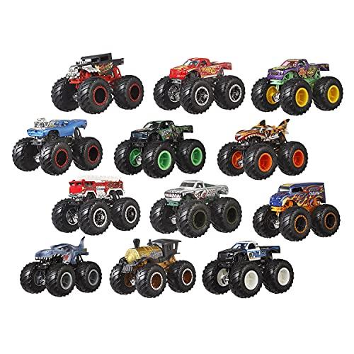 Hot Wheels Monster Trucks Pack 12 coches de juguete surtidos, regalo para niños +3 años (Mattel GGC61)