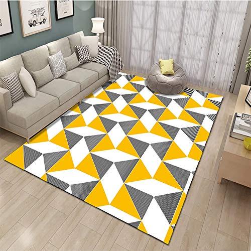 Nordic Style Rectangular Fiber Ins Carpet, Used for Dining Bed, Children's Room, Corridor Sofa, Non-Slip Carpet Beside Floor Mat, (Color : B, Size : 2.6'x3.9')
