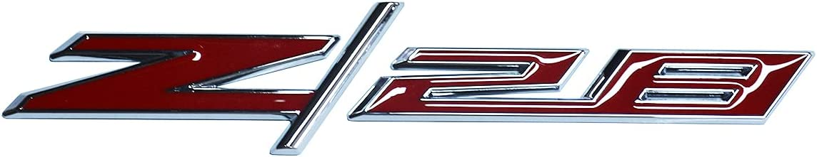 Chrome Red Two Pcs 22925211 Camaro Z//28 Fender Emblem Right /& Left Badge Adhesive Nameplate Replacement For 2014-2020 Camaro
