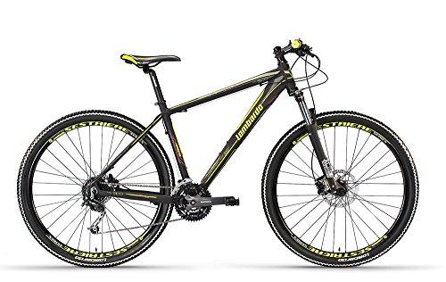 Lombardo bikes - Mountain Bike Sestriere 500 U / 29 NERO/GIALLO FLUO OPACO 17' - 2016