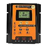 MPPTソーラー充電器コントローラ - ソーラーパネルバッテリーレギュレータ LCDディスプレイ デュアルUSBポートディスプレイ付き12V / 24V安全保護(70A)