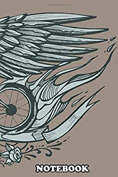 Notebook  Hand Drawn Illustration Or Drawing Of A Flying Bicycle  Journal for Writing College Ruled Size 6  x 9  110 Pages