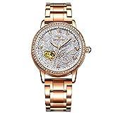 RORIOS Automatico Meccanico Orologio Donna Luminoso Orologio da Polso Shining Cielo Stellato Dial Elegant Women Watches