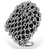 Herda Cast Iron Cleaner Skillet Scrubber 316L Chain Mail Scrubber for Iron Pan, Silicone Insert Light Weight Life Time Use Chain Cleaning Scrub Brush Metal Scraper Tool for Steel Skillet, Wok, Pot