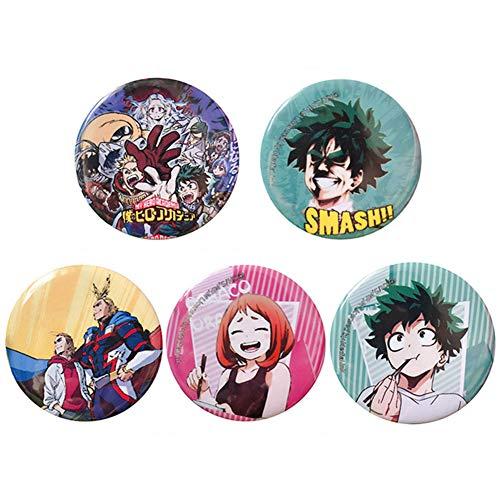 Saicowordist Mijn Hero Academia Gift Set 9 Pack Mijn Hero Academia Knop Pins Cartoon Personages Broche Pins Badges Bag Accessoires voor Anime Fans 5 stuks.