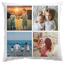 Personalised Gifts Market Cojín Foto diseña tú Mismo - Blanco - Almohada 100% poliéster Impresa Individualmente con tu Propia Foto (40 x 40 cm) decoración de sofá