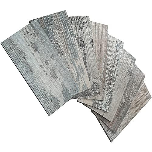"100 Piece Peel and Stick Backsplash PVC Tile, 3"" x 6"" Rustic Brick Stick on Tiles for Backsplash Kitchen, Bathroom, Laundry Room, Camper, Fireplace"