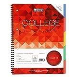 Landre Collegeblock - Libreta con registro (A4, cuadriculado, márgenes a izquierda y derecha, 80 hojas, 1 unidad)