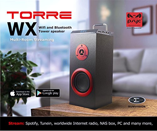 psyc Torre Premium Portable Stereo ( MP3, Bluetooth Pairing )