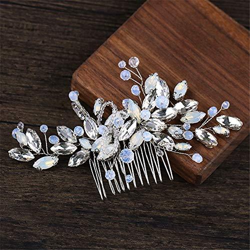 CULASIGN Tocado para novia, accesorio para el pelo, joya para bodas, dorado...