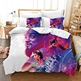 916 Duvet Cover Sets 3D Aladdin and The Magic Lamp Printing Cartoon Bedding Set with Zipper Closure 100% Polyester Gift Duvet Cover 3 Pieces Set with 2 Pillowcases F-GB SuperKing102*87'(260 * 220cm)