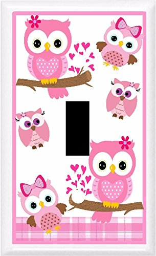 Got You Covered BB Adorable Owls Nursery & Children Decor Light Switch Cover Plate OR Outlet (1x Toggle (Single))