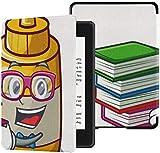 Funda de Tela Kindle Paperwhite Resistente al Agua (10a generación, versión 2018), Estuche para Tableta de Dibujos Animados de Salsa de Mostaza casera del Libro del Estudiante