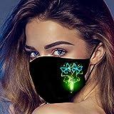 ZHX 5 Stück Atmungsaktive Mundmasken Schutztuch Gesichtsschutz Schutzhülle Outdoor Schutztuch staubdicht Winddicht Mund Schal für die persönliche Gesundheit Einstellbar Sportmaske (C)