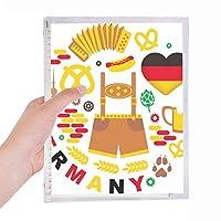 ドイツの旗の文化習慣のランドマーク 硬質プラスチックルーズリーフノートノート