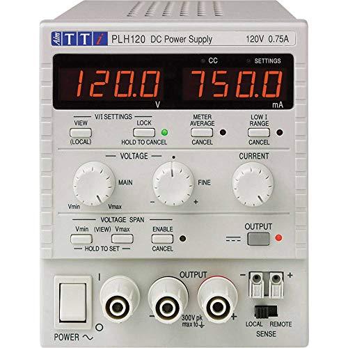 Aim TTi PLH120 voeding voor laboratorium, verstelbaar, 0-120 V, 0-0,75 A, 90 W, aantal uitgangen 1 x