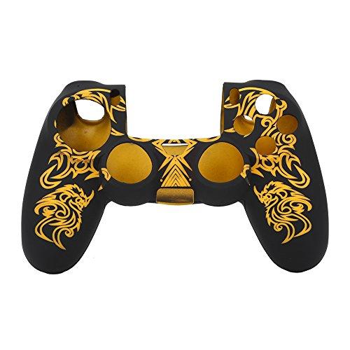 Tosuny Funda para Mandos de PS4 Silicona Suave, Estuche Carcasa Protectora Cubierta de Shell para Sony Playstation 4 Controlador(Amarillo)