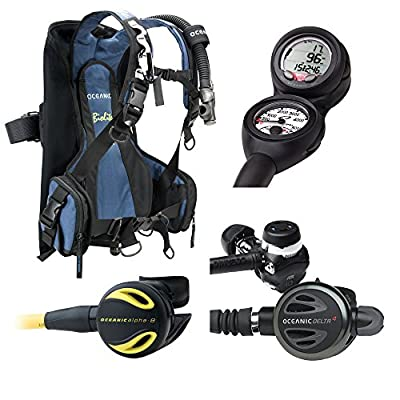 Oceanic Traveler Scuba Diving Package with BioLite BCD Veo 2.0, Delta 4.2, Alpha 8 Octo (LG)