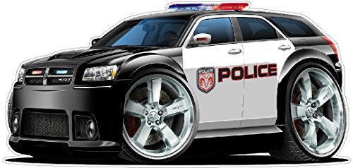 Dodge Magnum Police Car Wall Decal 2ft Long Sport Classic Graphic Sticker Man Cave Garage Boys Room Decor
