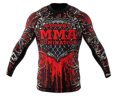 Smmash MMA BJJ UFC Manga Larga Deportes de Lucha, BLOODY ROOTS