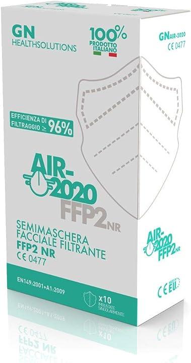 Mascherine ffp2 certificate-sistema nasale antiappannamento-mascherina antiappannamento m. in italy10 pezzi ffp2-1