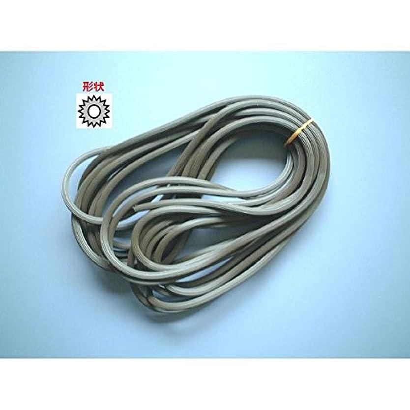 シュート法的評判網押えゴム(7m)4.5ミリ カラー:ダークブラウン×サイズ:4.5ミリ