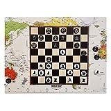 CTDMMJ Juego de ajedrez de plástico sólido magnético Disco de Hierro portátil Disquete para niños Rompecabezas Pegado a la Pared Juegos de Mesa