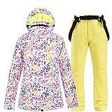 gtrr l'abbigliamento da sci invernale per bambini si adatta alle giacche da esterno calde imbottite antivento e impermeabili per ragazzi,top + pants 8l