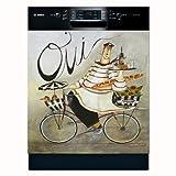 APPLIANCE ART Oui Design Dishwasher Cover by Jennifer Garant