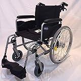 Invacare Action 1 NG Rollstuhl mit Steckachsensystem und Trommelbremsen Sitzbreite 43 cm Armlehnen lang Reiserollstuhl Transportrollstuhl -