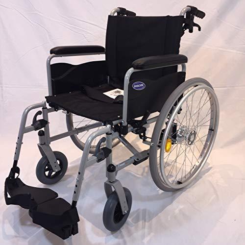 Invacare Action 1 NG Rollstuhl mit Steckachsensystem und Trommelbremsen Sitzbreite 43 cm Armlehnen lang Reiserollstuhl Transportrollstuhl