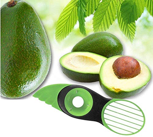 Avocado Slicer, 3 in 1 Avocado Cutter for Fruit and Vegetables Avocado Tool Avocado Slicer Avocado Knife - Dishwasher Safe (Avocado Slicer-Green)