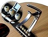 TANGJC-E Guitarra Capo con Bridge Fit para Guitarra acústica Guita eléctrica y Ukelele Guitar Tuner Clip (Color : Silver)