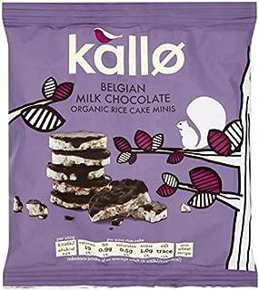 Kallo Organic Milk Chocolate Mini Rice Cakes 40g