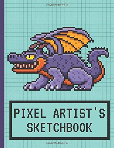 Pixel Artist's Sketchbook: Pixel Art Blank Book | Drawing Notebook | Grid Paper Note |121 pages, 8,5x11 inches | Gift For Pixel Artist, Boys & Girls Gamers