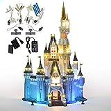 GEAMENT Upgraded Version Light kit for (Disney Castle) Building Bricks Model - Compatible with 71040 Lego Cinderella Princess Castle (Lego Set Not Included)