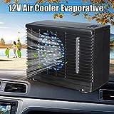 12V 35W 2 Velocidad mini portátil Inicio Alquiler refrigerador del ventilador de agua por evaporación del hielo del coche de aire acondicionado para el carro del coche auto del ventilador fresco