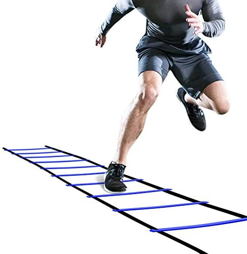 Best GHB Pro Agility Ladder Agility Training Ladder Speed 12 Rung 20ft with Carrying Bag