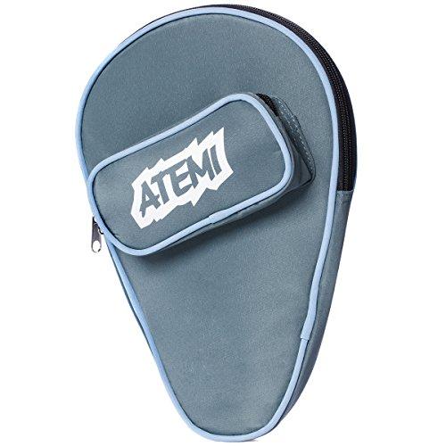 Atemi-Tischtennisschlägerhülle | Platz für 1 Schläger und 3 Tischtennisbälle | Dickes, strapazierfähiges Aufbewahrungsfach | Aufsteckbare Reißverschlusstasche mit Fronttasche | Strapazierfähig | Blau