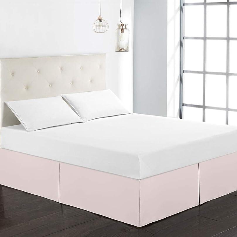 エアコンヒョウ欠如ユートピア用寝具マイクロファイバーベッドスカート - しわと色あせに強い(ツイン、ツイン、クイーン、キング) (色 : ピンク, サイズ さいず : Q (153X203+38CM))
