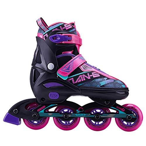 XFY Inliner für Kinder Erwachsen, Rollschuhe Schlittschuhe 4in1 verstellbar Inline Skates, Sports Inliner Skate Soft Kinder Jugend Damen Größenverstellung