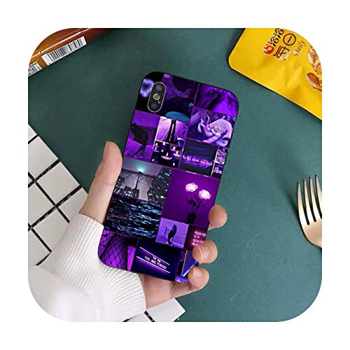 Double-sweet Purple Love Aesthetic Art Girly Handyhülle für iPhone 11 12 Pro XS MAX 8 7 6 6S Plus X 5S SE 2020 XR Cover-a8-For iPhone 11
