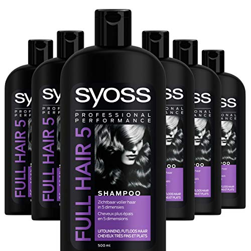 Syoss Full Hair 5 Shampoo 500ml, 6 stuks