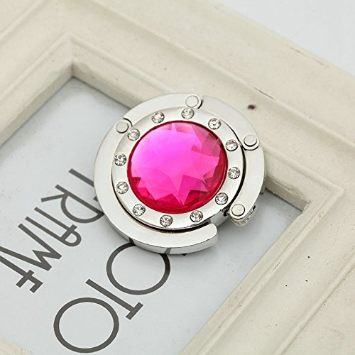 ETbotu Homeware, Geschenke für Männer, Frauen – Kristall-Tisch, Faltbare Tasche, Geldbörse, Handtaschen-Haken, Kleiderbügel, Halterung, 10 Farben, Weiß rosarot